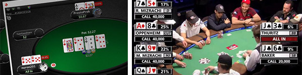 All-In Equity Display на PokerStars