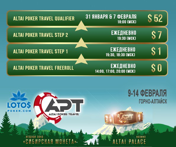 Сателлиты Altai Poker Travel